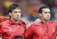 Spain's national team David Silva and Pedro Rodriguez during match. October 16, 2012. (ALTERPHOTOS/Alvaro Hernandez) /NORTEPhoto