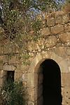 Israel, Jerusalem Mountains, ruins on Mount Tzuba
