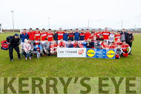 The Dingle seniors who won the Dermot Earley Memorial Cup at the Mens Senior final against An Ghaeltacht in the Comórtas Peile Páidi Ó Sé 2020 in Gallarus on Sunday.
