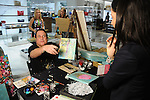 Artist Franco Mondini Ruiz at the Saks Fifth Avenue Key to the Cure Breast Care Centers at Memorial Hermann Wednesday Oct. 26,2016.(Dave Rossman photo)