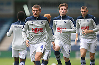 Shaun Hutchinson of Millwall warms up ahead of Millwall vs Middlesbrough, Sky Bet EFL Championship Football at The Den on 8th July 2020