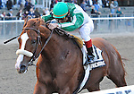 10 October 23: Friend Or Foe (no. 2), ridden by Alex Solis and trained by John Kimmel, wins the 35th running of the Empire Classic Stakes for New York bred three year olds and upward at Belmont Park in Elmont, New York.  (Bob Mayberger/Eclipse Sportswire)