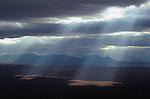 Rays of sunlight on the Arctic Plain, Alaska