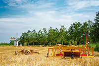 agricultural machinery left in the field after the harvest