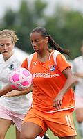 Rosana.Elise Weber (left).Saint Louis Athletica defeated Sky Blue FC 1-0 at Anheuser-Busch Soccer Park, Fenton, Missouri.