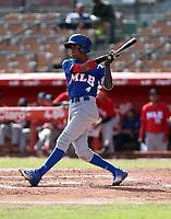 Eduardo Garcia participates in the MLB International Showcase at Estadio Quisqeya on February 22-23, 2017 in Santo Domingo, Dominican Republic.