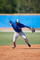 Toronto Blue Jays Luis De Los Santos (14) during a Minor League Spring Training game against the New York Yankees on March 18, 2018 at Englebert Complex in Dunedin, Florida.  (Mike Janes/Four Seam Images)