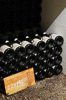 pile of bottles 220 magnums 1996 dom du vieux telegraphe chateauneuf du pape rhone france