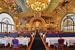 The blue train premier restaurant situated on the Gare de Lyon, railway station, Paris, France