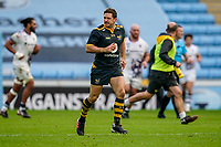 22nd November 2020; Ricoh Arena, Coventry, West Midlands, England; English Premiership Rugby, Wasps versus Bristol Bears; Jimmy Gopperth of Wasps goes back to restart the game after kicking another 3 point penalty for 9-3