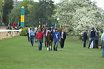 April 10, 2015: #1 Call Pat leading the field onto the infield area before the running of the Apple Blossom Handicap at Oaklawn Park in Hot Springs, AR. Justin Manning/ESW/CSM