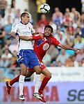 Zaragoza's Marco Babic (l) Gatafe's Miguel Angel Torres (r) during La Liga match. September 27 2009. (ALTERPHOTOS/Acero).