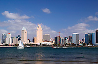 The downtown San Diego skyline as viewed from Coronado, San Diego, California