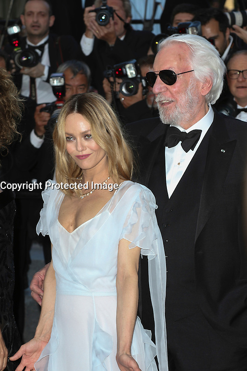 Vanessa Paradis Donald Sutherland attends 'The Last Face' Premiere during the 69th annual Cannes Film Festival at the Palais des Festivals on May 20, 2016 in Cannes, France.