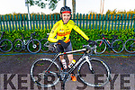 """Slieve Mish Cycling Club, Michael Ahern from Firies taking part in the Tom Crean """"Unsung Hero"""" Cycle fundraiser in the Ballyseede Garden Centre on Saturday."""