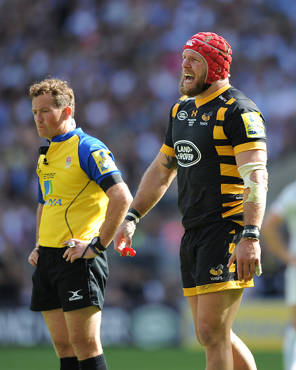 Land Rover Ambassador James Haskell of Wasps during the Premiership Rugby Final at Twickenham Stadium on Saturday 27th May 2017 (Photo by Rob Munro)