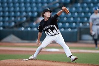 Winston-Salem Dash starting pitcher Cooper Bradford (6) in action against the Asheville Tourists at Truist Stadium on September 17, 2021 in Winston-Salem, North Carolina. (Brian Westerholt/Four Seam Images)