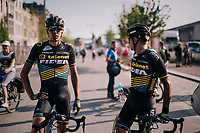 "Nicolas Cleppe's (BEL/Telenet Fidea Lions) & Quinten Hermans' (BEL/Telenet Fidea Lions) post-race face<br /> <br /> Antwerp Port Epic 2018 (formerly ""Schaal Sels"")<br /> One Day Race:  Antwerp > Antwerp (207 km; of which 32km are cobbles & 30km is gravel/off-road!)"