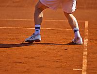Netherlands, Amstelveen, August 22, 2015, Tennis,  National Veteran Championships, NVK, TV de Kegel,  shoes<br /> Photo: Tennisimages/Henk Koster