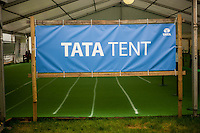Hay on Wye, UK. Wednesday 01 June 2016<br /> Pictured:  TATA the sponsors of the hay festival <br /> Re: The 2016 Hay festival take place at Hay on Wye, Powys, Wales
