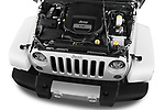Car Stock 2017 JEEP Wrangler-Unlimited Sahara 5 Door SUV Engine  high angle detail view