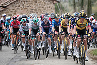 rolling peloton led by Team Jumbo-Visma in service of GC leader Wout van Aert<br /> <br /> Stage 3 from Monticiano to Gualdo Tadino (219km)<br /> <br /> 56th Tirreno-Adriatico 2021 (2.UWT) <br /> <br /> ©kramon