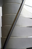 Details of a spiral staircase, University of Surrey.