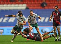 8th September 2020; Ashton Gate Stadium, Bristol, England; Premiership Rugby Union, Bristol Bears versus Northampton Saints; Shaun Adendorff of Northampton Saints gets away from Chris Vui of Bristol Bears