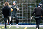 St Johnstone Training….29.01.19    McDiarmid Park<br />Keeper Zander Clark pictured during training ahead of tomorrow's game at Celtic.<br />Picture by Graeme Hart.<br />Copyright Perthshire Picture Agency<br />Tel: 01738 623350  Mobile: 07990 594431