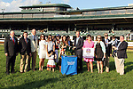 """October 05, 2018 : #3 Restless RIder and jockey Brian Hernandez Jr. win the 67th running of The Darley Alcibiades (Grade 1) """"Win and You're In Breeders' Cup Juvenile Fillies Division"""" for trainer Kenneth McPeek and owner Three Chimneys Farm and Fern Circle Stables at Keeneland Race Course on October 05, 2018 in Lexington, KY.  Candice Chavez/ESW/CSM"""