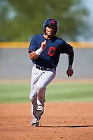 Cleveland Indians Jorma Rodriguez (17) during an Instructional League game against the Kansas City Royals on October 11, 2016 at the Cleveland Indians Player Development Complex in Goodyear, Arizona.  (Mike Janes/Four Seam Images)