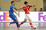 Ugra Yugorsk's Katata (l) and SL Benfica's Changuinha during UEFA Futsal Cup 2015/2016 Semifinal match. April 22,2016. (ALTERPHOTOS/Acero)