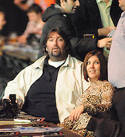 10.02.2011 The beginning of the Premier League Darts season from the O2 Arena in London. Former World Champion Andy Fordham watches on