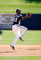 Alcides Escobar - Milwaukee Brewers - 2009 spring training.Photo by:  Bill Mitchell/Four Seam Images