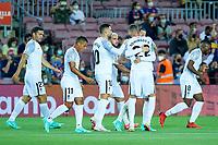 20th September 2021; Nou Camp, Barcelona, Spain; La Liga football league, FC Barcelona versus Granada CF;  Domingos Duarte celebrates after scoring a goal in the 2nd minute for 0-1 during the Liga match between FC Barcelona and Granada CF .