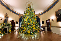 2020 White House Christmas<br /> <br /> The Blue Room of the White House is seen decorated for the Christmas season Sunday, Nov. 29, 2020. (Official White House Photo by Andrea Hanks)