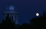 Moonrise over the Capitol, in Carson City, Nev., on Sunday, Sept. 23, 2018. <br /> Photo by Cathleen Allison/Nevada Momentum