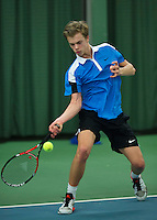 Rotterdam, The Netherlands, March 11, 2016,  TV Victoria, NOJK 12/16 years, Julian Prins (NED)<br /> Photo: Tennisimages/Henk Koster