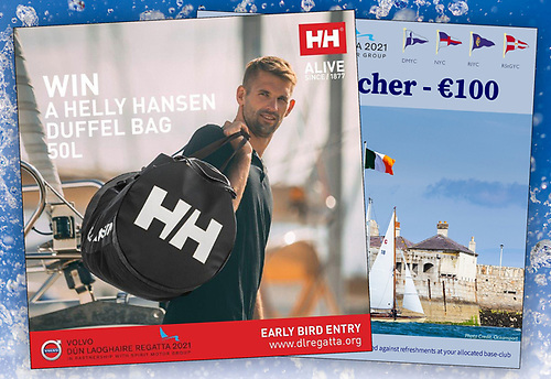 All fully paid entries received by 31st March will be automatically entered into a draw for a Helly Hansen Performance Sailing bag