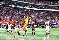 Atlanta, Georgia - Saturday, June 2, 2018: Atlanta United defeated a nine-man Philadelphia Union side, 3-1, in front of a crowd of 45,140 at Mercedes-Benz Stadium.