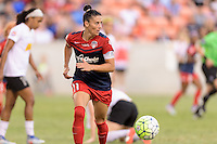 Houston, TX - Sunday Oct. 09, 2016: Ali Krieger during the National Women's Soccer League (NWSL) Championship match between the Washington Spirit and the Western New York Flash at BBVA Compass Stadium. The Western New York Flash win 3-2 on penalty kicks after playing to a 2-2 tie.