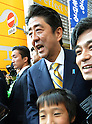 Shinzo Abe of Japan's Liberal Democratic Party Campaigning in Tokyo