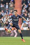 Juan Pablo Anor Acosta, Juanpi, of Malaga CF in action during their La Liga 2016-17 match between Real Madrid and Malaga CF at the Estadio Santiago Bernabéu on 21 January 2017 in Madrid, Spain. Photo by Diego Gonzalez Souto / Power Sport Images