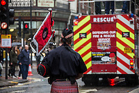 """16.10.2013 - FBU Demo on Pensions and Cuts: """"Save Our Fire Service"""""""