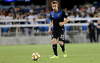 SAN JOSE, CA - AUGUST 31: Tommy Thompson of the San Jose Earthquakes during a Major League Soccer (MLS) match between the San Jose Earthquakes and the Orlando City SC  on August 31, 2019 at Avaya Stadium in San Jose, California.