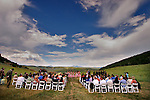 Classic summer wedding at Saddleback ranch in Steamboat springs colorado.