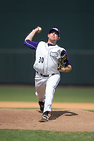 Winston-Salem Dash relief pitcher Brad Goldberg (30) in action against the Salem Red Sox at BB&T Ballpark on May 31, 2015 in Winston-Salem, North Carolina.  The Red Sox defeated the Dash 6-5.  (Brian Westerholt/Four Seam Images)