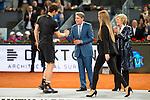 Scotch Andy Murray, Manolo Santana and Madrid Mayor Manuela Carmena during  TPA Finals Mutua Madrid Open Tennis 2016 in Madrid, May 08, 2016. (ALTERPHOTOS/BorjaB.Hojas)