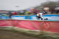 CX World Champion Wout Van Aert (BEL/Crelan-Willems) speeding along on a new bike (& in a new team) for the first time in a race<br /> <br /> elite men's race<br /> GP Sven Nys 2017