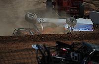 Mar. 19, 2011; Chandler, AZ, USA;  LOORRS pro buggy unlimited driver Bobby Pecoy goes off the edge during round one at Firebird International Raceway. Mandatory Credit: Mark J. Rebilas-